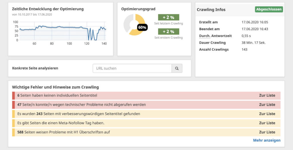 Seobility-OnPage-Analyse