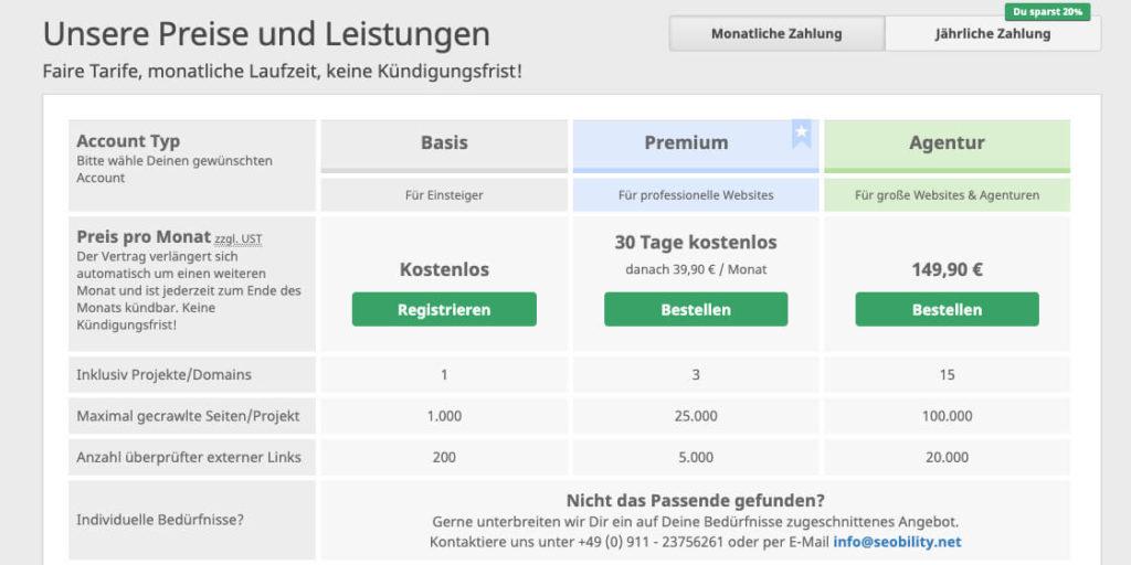 Seobility-Preise-und-Leistungen
